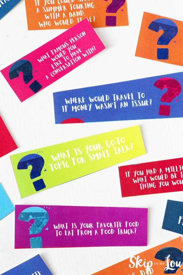 21 Questions Game {Free Printable Cards}