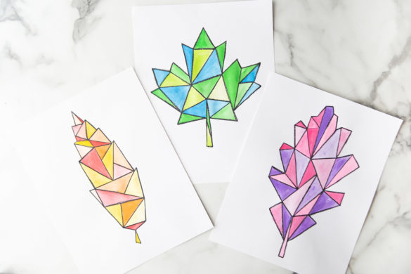Watercolor Leaf Art