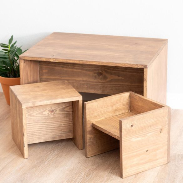 Convertible DIY Toddler Table and Chair Set