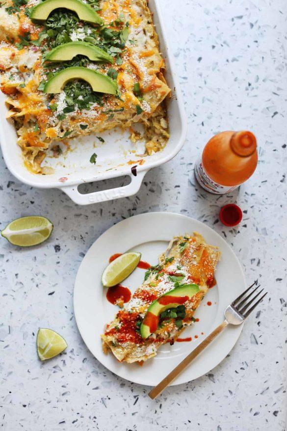 Shailey's Chicken Verde Enchiladas