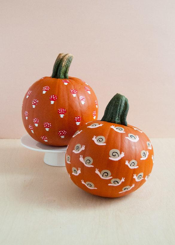 Nature-Inspired Fingerprint Art Pumpkins