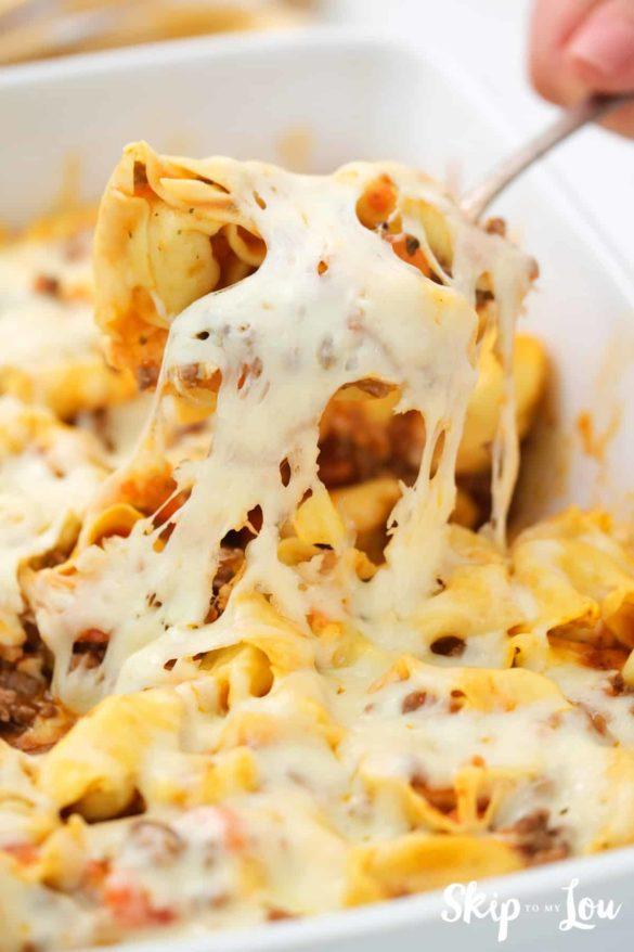 Baked Tortellini Casserole Recipe – Super Cheesy!