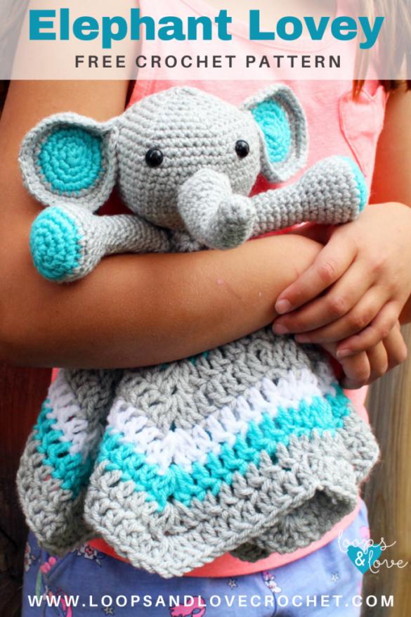 Elephant Lovey – Free Crochet Pattern