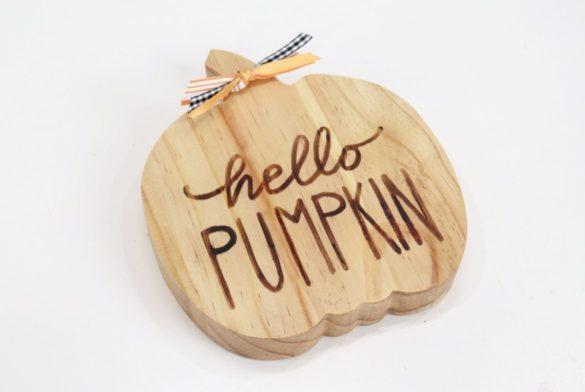 Reversible Wooden Pumpkin Decor + Free Fall Stencils