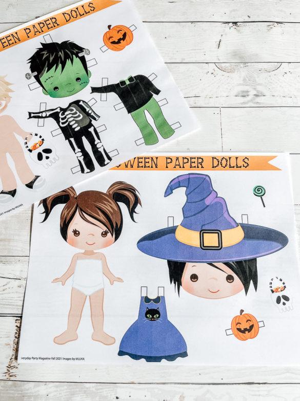 Printable Halloween Paper Dolls
