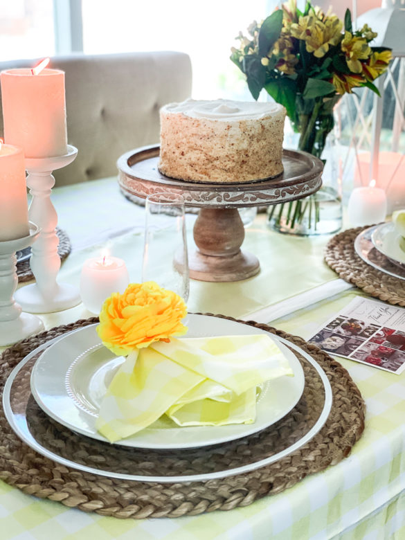 Cheerful Yellow Tablescape