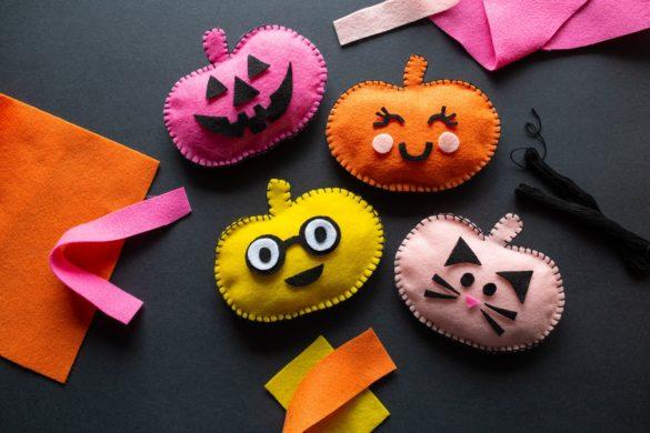 Fall Crafts: DIY Felt Pumpkin Faces