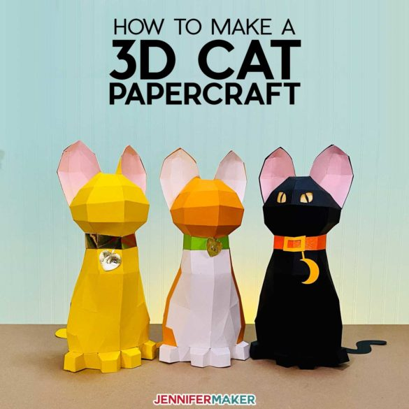 3D Papercraft Cat: Free Animal Papercraft Template & SVG File!