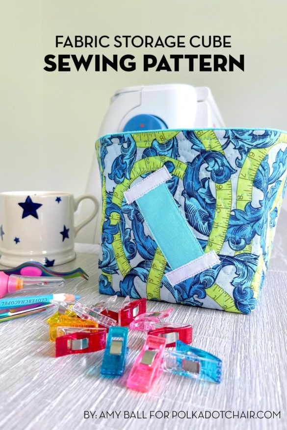 Fabric Storage Cube Sewing Pattern