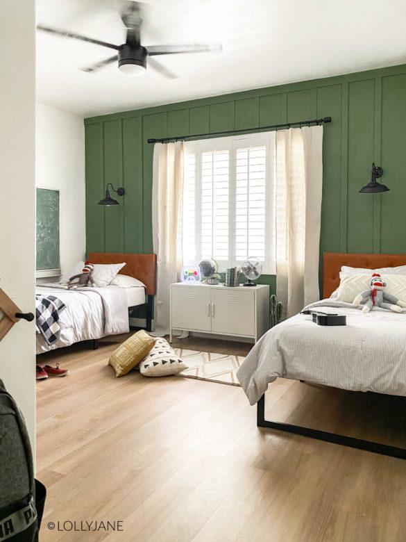 Modern Farmhouse Shared Boys Bedroom