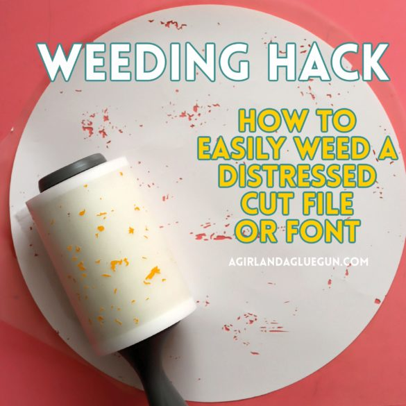 Weeding hack with Lint Roller