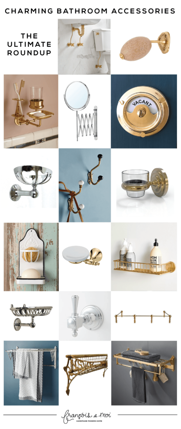 Add Instant Charm with These Bathroom Accessories
