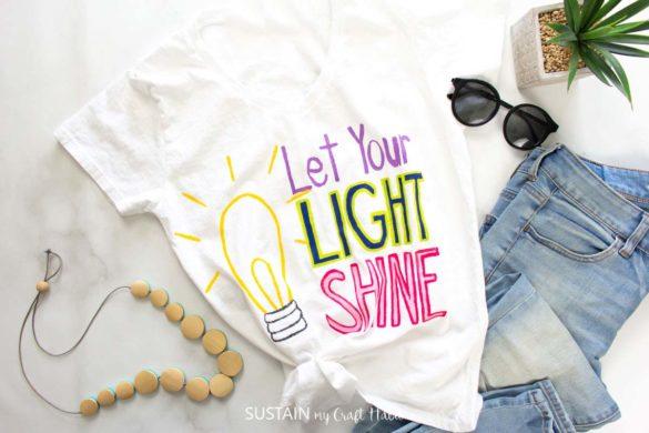 Let Your Light Shine DIY TShirt Painting
