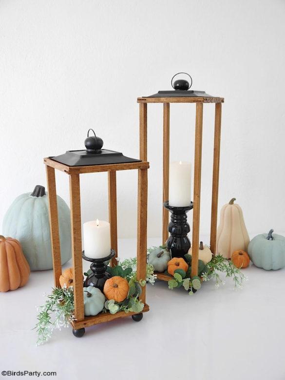 Easy DIY Modern Farmhouse Wood Lanterns