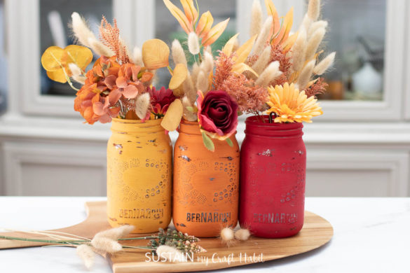 Painted Jars for Thanksgiving