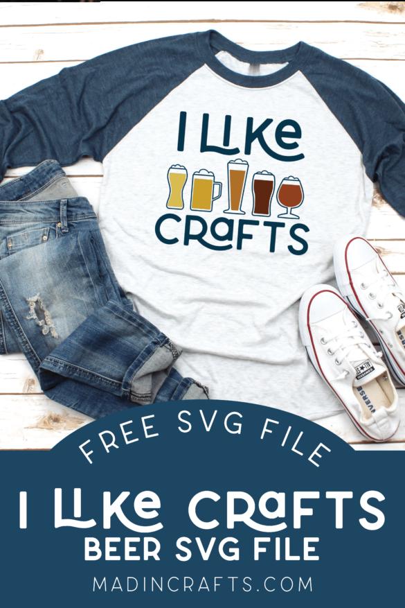 I LIKE CRAFTS – FREE BEER SVG