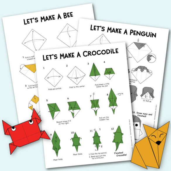 Free Origami Animals with Instructions and Diagrams