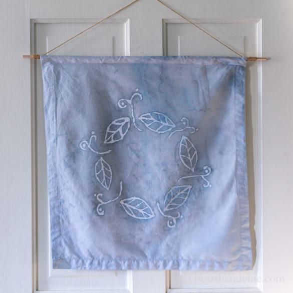 Batik Fabric Art with Glue Creates a Beautiful Wall Hanging