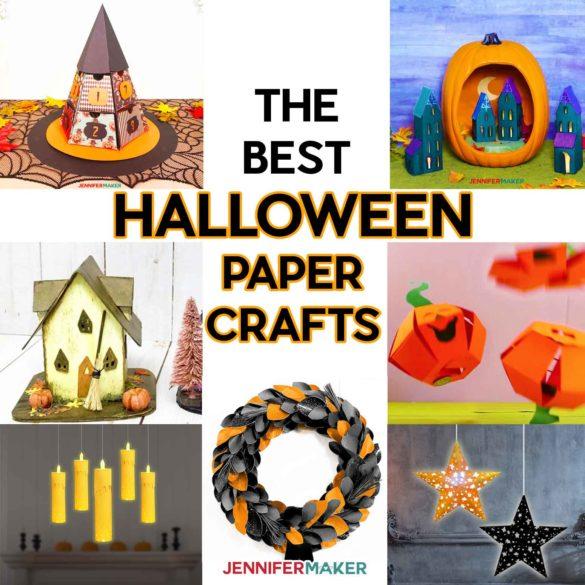 Halloween Paper Crafts: Free Printable Patterns & SVG Files