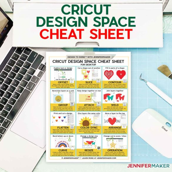 Cricut Design Space Cheat Sheets – 12 Tricks!