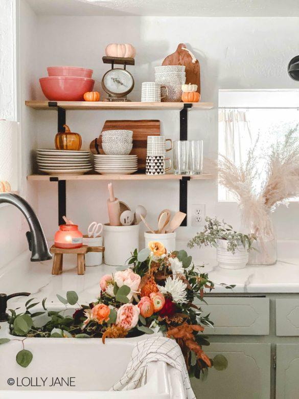 How to Style Kitchen Shelf Decor