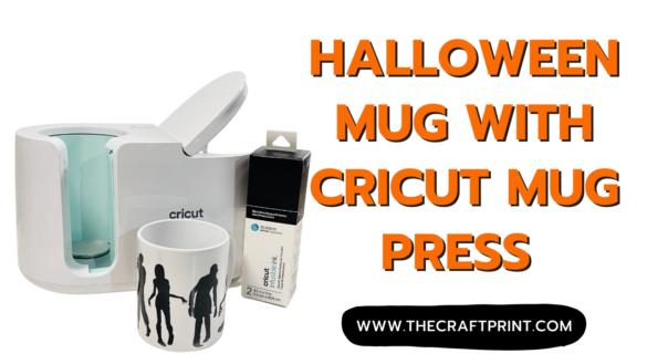 Halloween mug with Cricut mug press