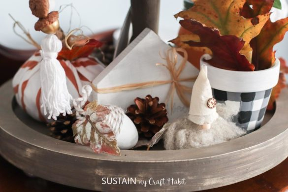 DIY Tiered Tray Decor for Fall