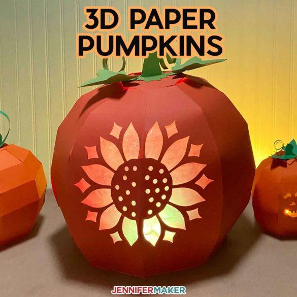 3D Paper Pumpkin Patch