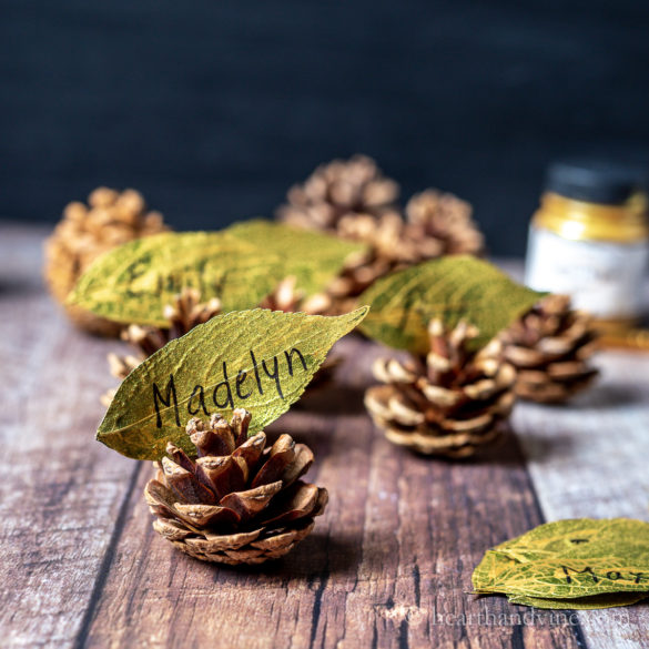 Leaf Place Cards for Your Holiday Guests