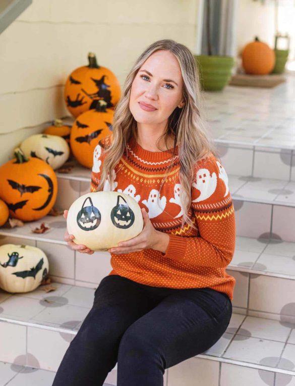 No-Carve (Tattoo) Pumpkin Decor