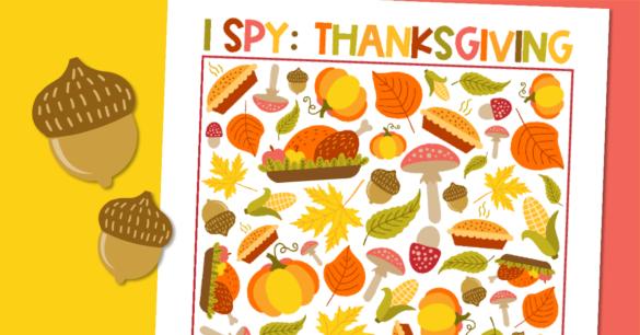 Free Printable Thanksgiving I-Spy Game!