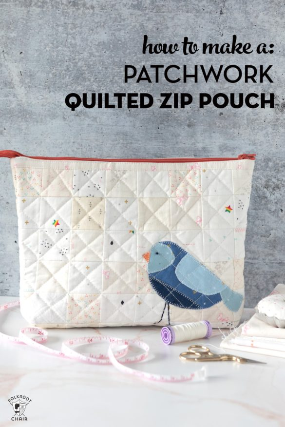 Quilted Patchwork Zip Bag Sewing Pattern