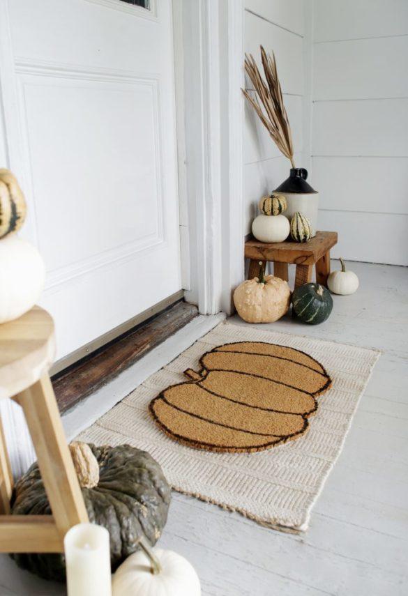 DIY Pumpkin Doormat