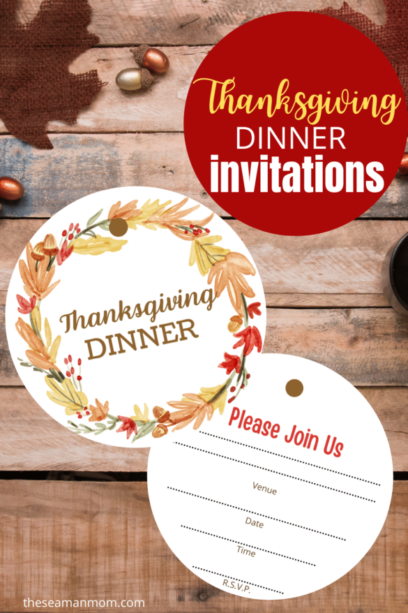 THANKSGIVING INVITATIONS template to print at home