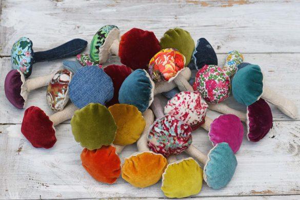 How To Make DIY Fabric Mushrooms – Free Pattern