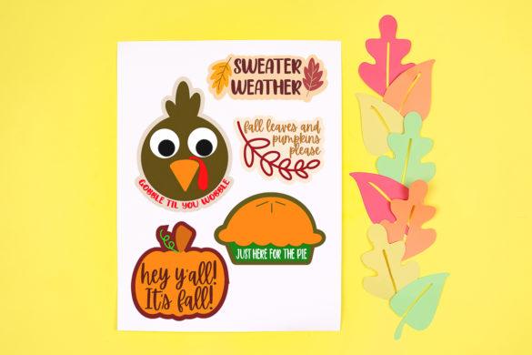 Free Thanksgiving Stickers Plus More Fall Printables