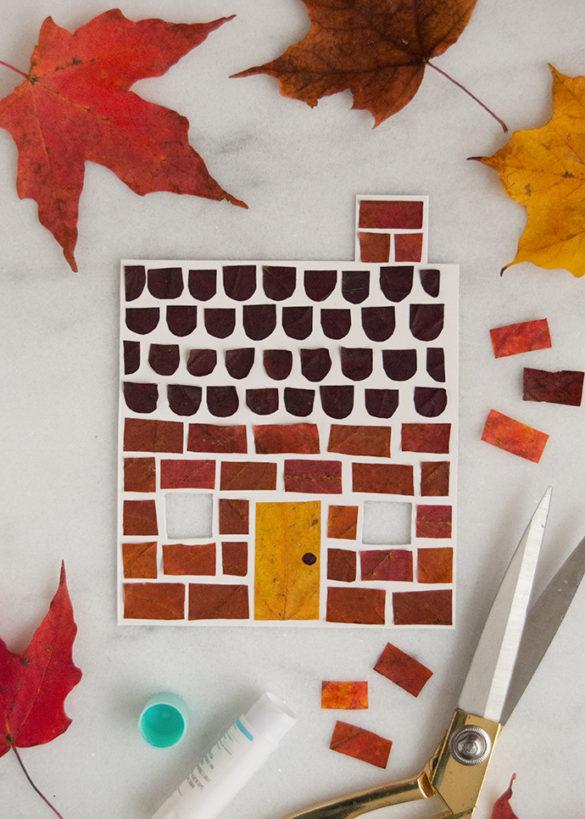 Fall Leaf Art House