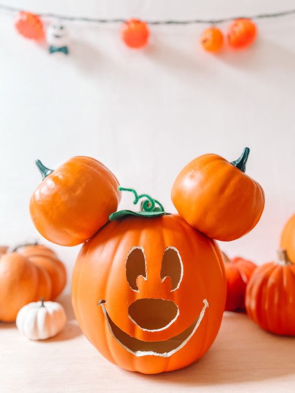 How To Make A Mickey Mouse Pumpkin