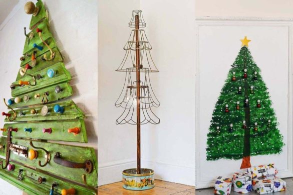 Cool Ideas for Alternative and Upcycled Christmas Trees