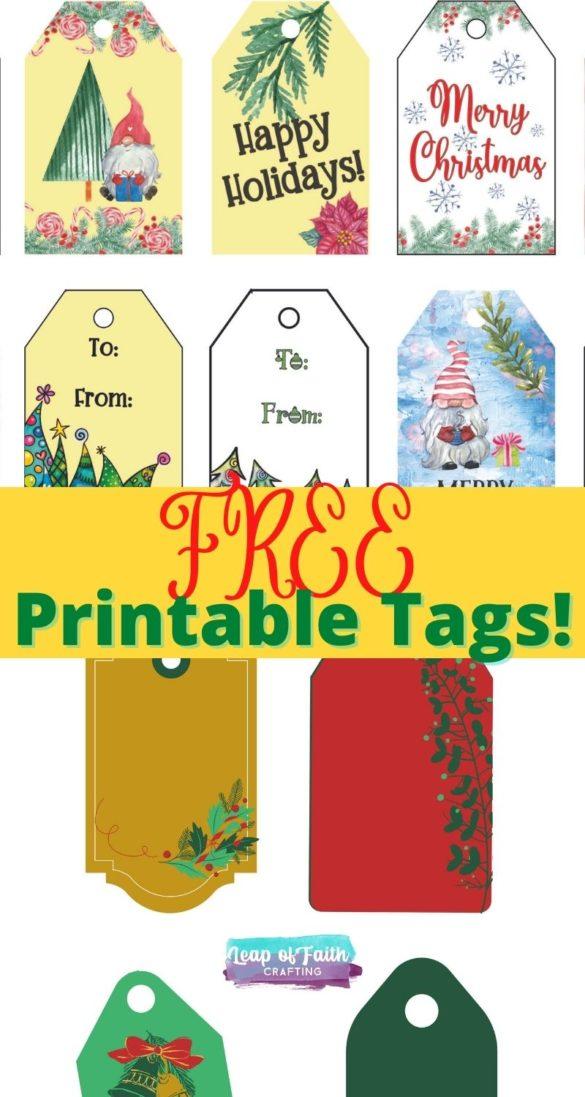 FREE Christmas Gift Tags Printable:  Cute and Elegant Tag Options!