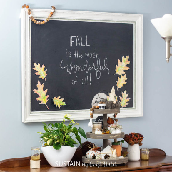 Magnetic Fall Watercolor Leaves (with Printable!)