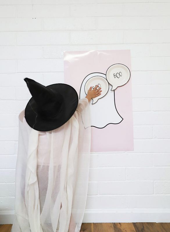 Halloween Free Printable Pin the Boo On The Ghost