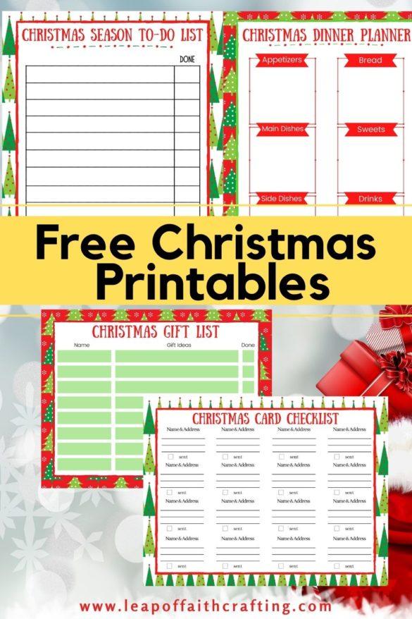 FREE Printable Christmas Planner and Gift List!